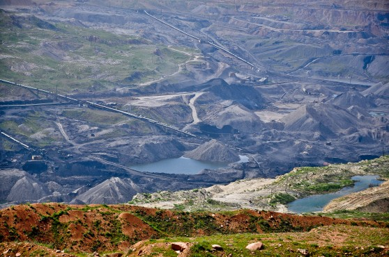 Ferghana Valley; open pit mining has left hideous scars.//Angela Neal Grove
