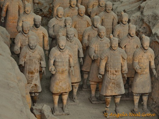Terracotta warriors on the march