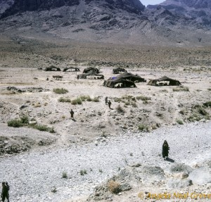 Black tents of Afghan Kochis