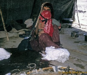 Afghan nomad woman with baby