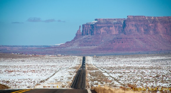 Morning after snow, Monument Valley