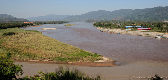 Photo of the Mekong River and the Golden Triangle where Myanmar, Thailand and Laos converge. Photo: Angela Neal Grove