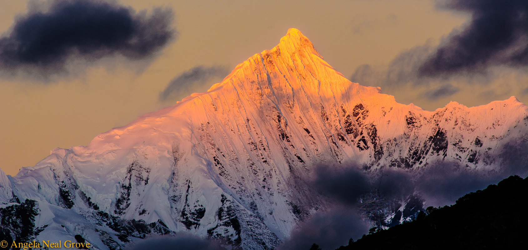 Shangri-La: Mt. Kawegabo at dawn by Angela Neal Grove