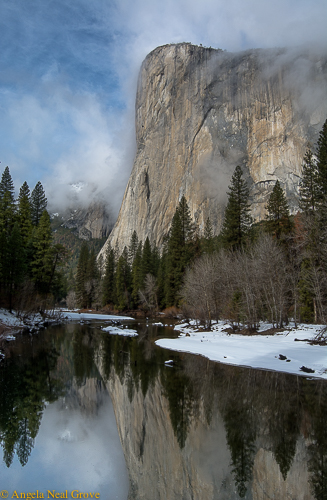 El Capitan, Yosemite Valley, with reflection in the Merced River ©Angela Neal Grove