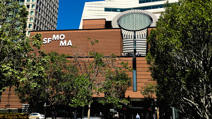 SF Moma view from Yerba Buena gardens Photo: Angela Grove