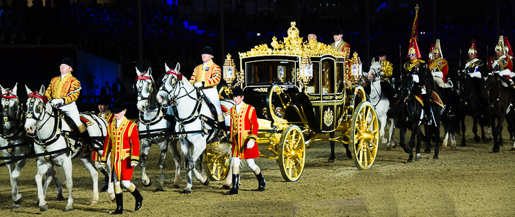 All the Queens Horses: Queen Elizabeth's Royal Jubilee Coach at her 90th birthday celebration at Windsor Castle//Photo: a.n.grove