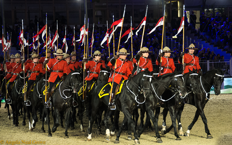 Queens 90th birthday celebration at Windsor Castle. The Royal Canadian Mounted Police. /Photo: A.N.Grove