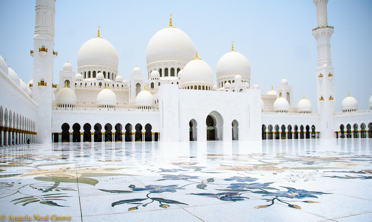 Dubai Dateline, What's New; The Sheik Zayed Grand Mosque in Abu Dhabi is made of white marble with inlaid colored ;
