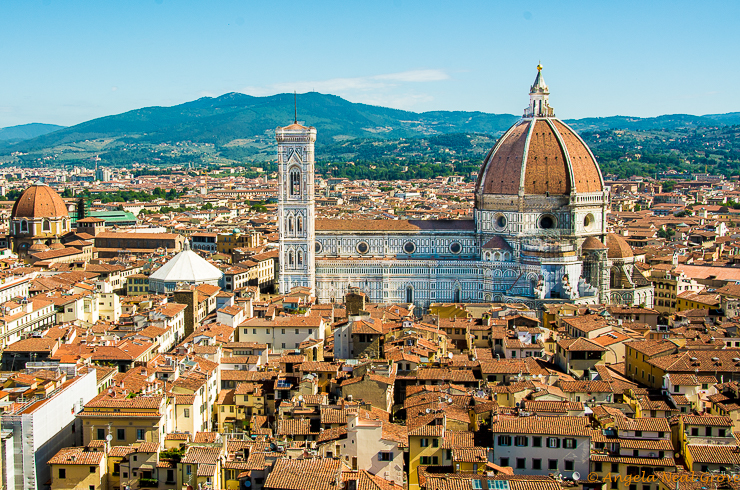 Florence Highlights and Tuscan Tales: here is the Duomo, or Cathedral, in Florence which is the center of the city. It is the fourth largest Cathedral in the world.