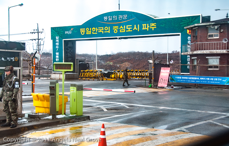 Korea's DMZ Through My Lens; The Freedom Bridge where prisoners were exchanged at the end of the Korean War in 1953. Beyond is no-man's land and North Korea