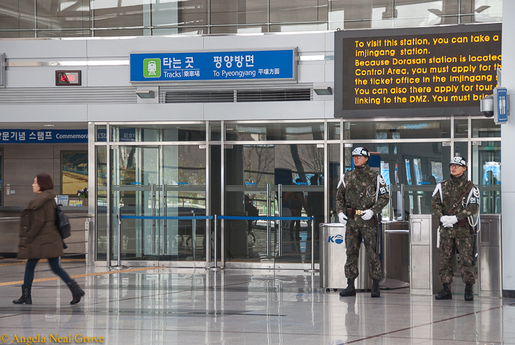Korea's DMZ Through My Lens: Gleaming state of the art train station at the DMZ. Hopefully one day there will be trains to North Korea and the rest of the world