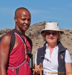 Masai guide at Lewa