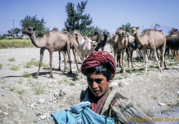 Nomad boy on the road to Kabul
