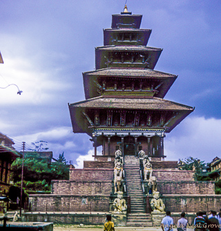 3rd century carved wooden temple destroyed by 7.8 Quake