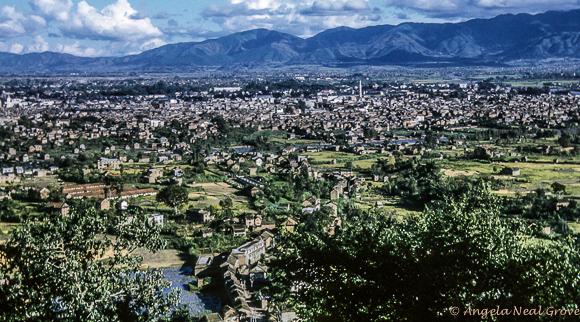 Katmandu Valley looking towards the Himalayas.