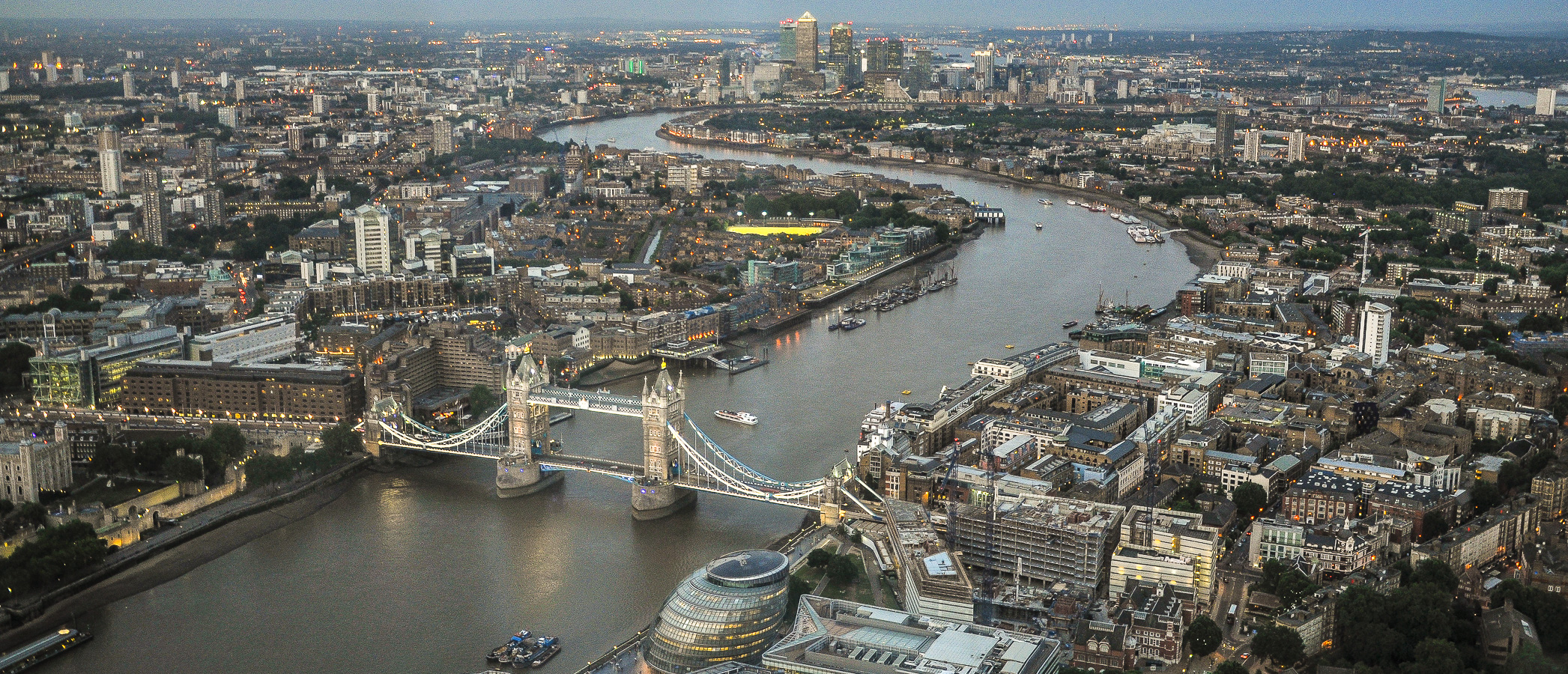 Tower Bridge, London, seen from The Shard