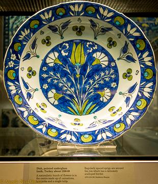 Ceramic Iznik bowl. British Museum, London. A.N.Grove