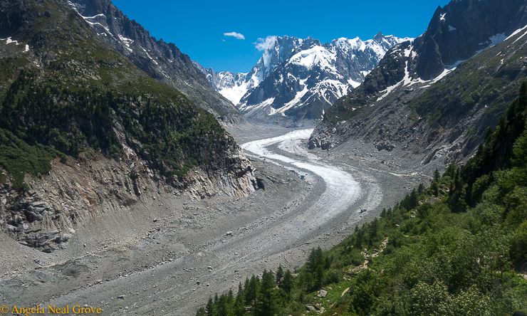 Climate Change through my lens; melting Mer de Glace glacier, Chamonix France