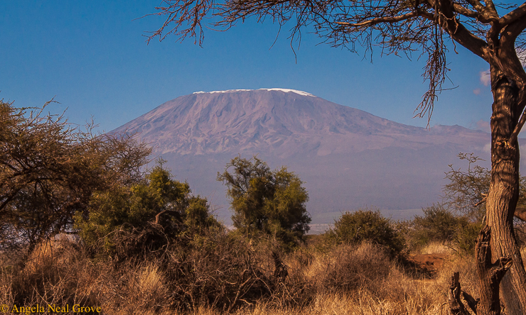 Planet in Peril: Climate Change Through My Lens; Image of Mt. Kilimanjaro, Kenya with just a thin topping of snow. Most of the glaciers on the mountain have already melted. //Photo: A.N. Grove