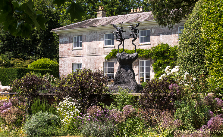 English Garden Style; Roche Court has over 50 works of contemporary sculpture in the gardens and park