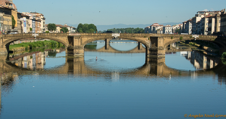 Florence Highlights and Tuscan Tales: The River Arno, which flows through Florence, in the early morning.