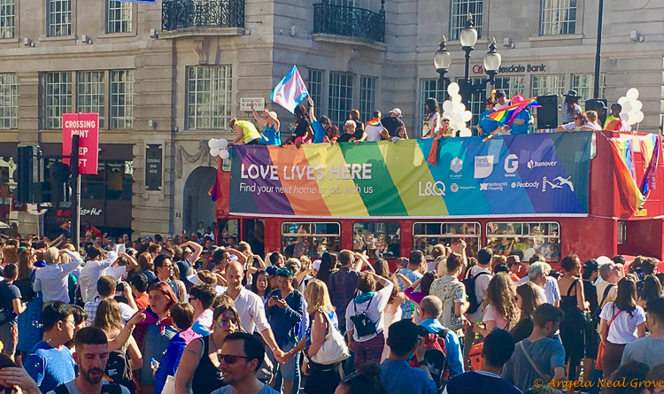 London Update News and Views; the 2017 Pride parade celebrated 50 years of decriminalization of homosexuality. Double decker buses, fire trucks, and first responders all joined in the parade and festivities