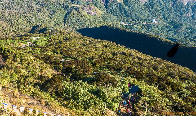Climbing Adams Peak in Sri Lanka