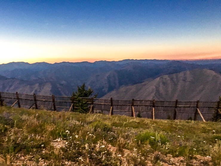 Sun Valley Total Eclipse, sunset at 11:15 am waiting for the moon shadow. It was cold and eerie.