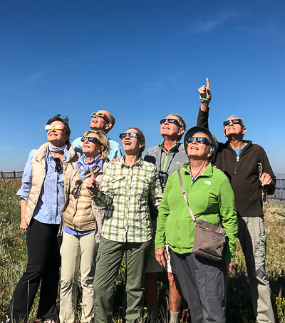 Sun Valley Total Eclipse, all eyes are on the sky waiting for totality