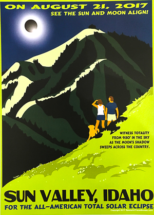 Sun Valley Total Eclipse poster showing totality