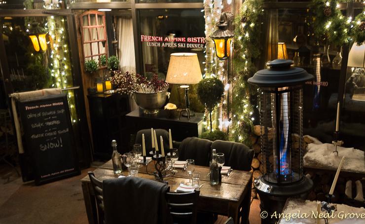 "Aspen is a Winter Wonderland. On ""Restaurant Row"" French Alpine Bistro is a favorite."