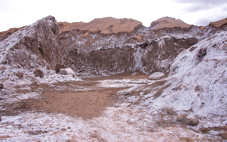 Otherworldly Atacama Desert. Quarry where Saltpetre was once mined. PHOTO; AN GROVE